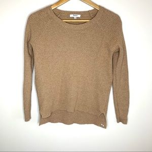 Madewell | tan knit sweater size xs